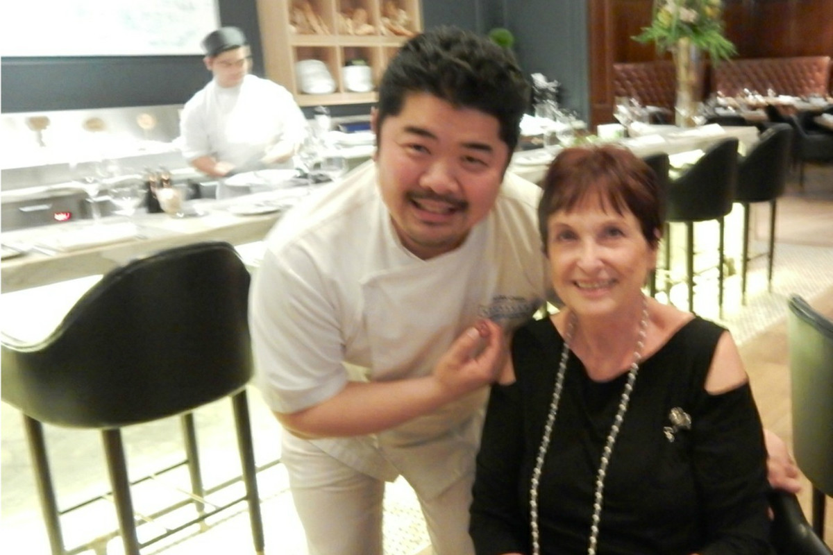 Chef Alex Chen & Heidi at Boulevard Kitchen & Oyster Bar, Vancouver, Canada