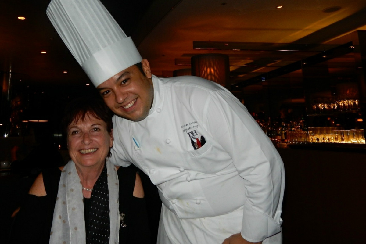 Heidi with Chef Alexis Gutierrez at Roppongi Hills 'Club Fifty-one' Tokyo, Japan